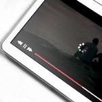tablet buffering a video